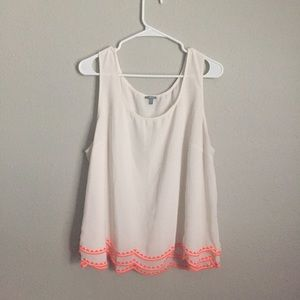 Charlotte Russe Neon Trim Tank Top